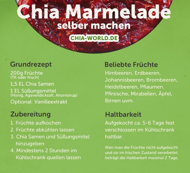 Anleitung zur Herstellung von Chia Marmelade